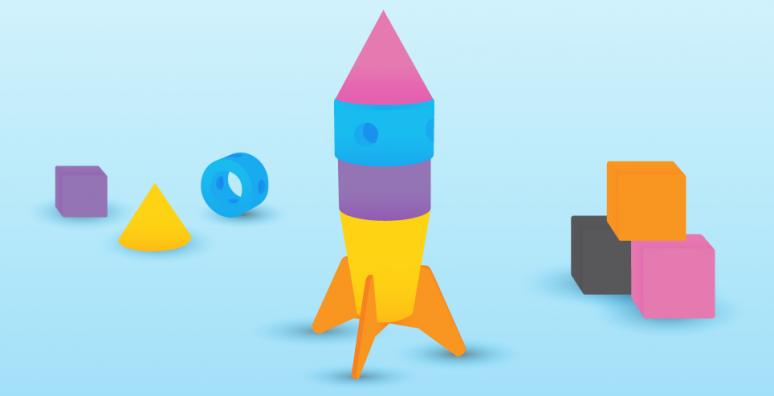 illustration of toy rocket