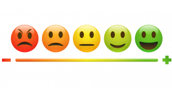 Client feedback report illustration - feedback icons