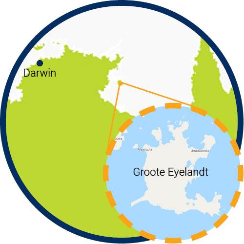 Groote eyelandt map
