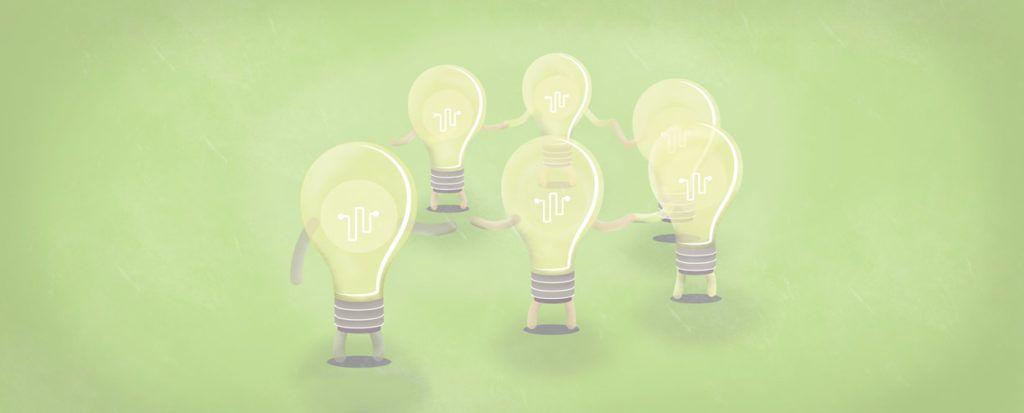 kickstarting an Innovation strategy: Light bulbs holding hands