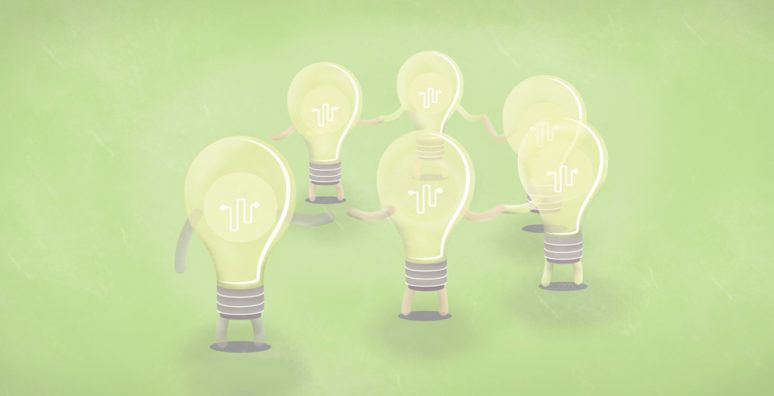 kickstarting an Innovation strategy: Light bulbs holding hands
