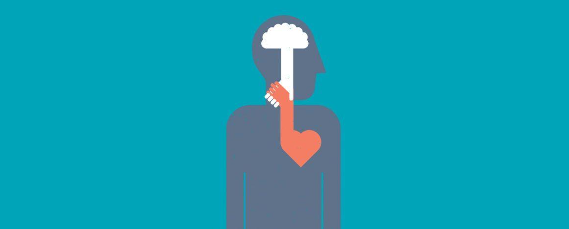 SVA Quarterly: Head & heart illustration
